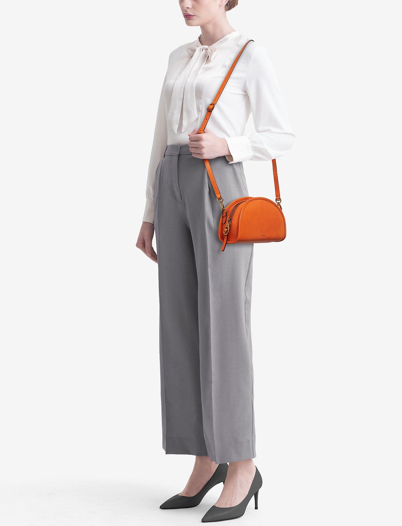Polo Ralph Lauren Calfskin Crossbody Bag - PERSIMMON