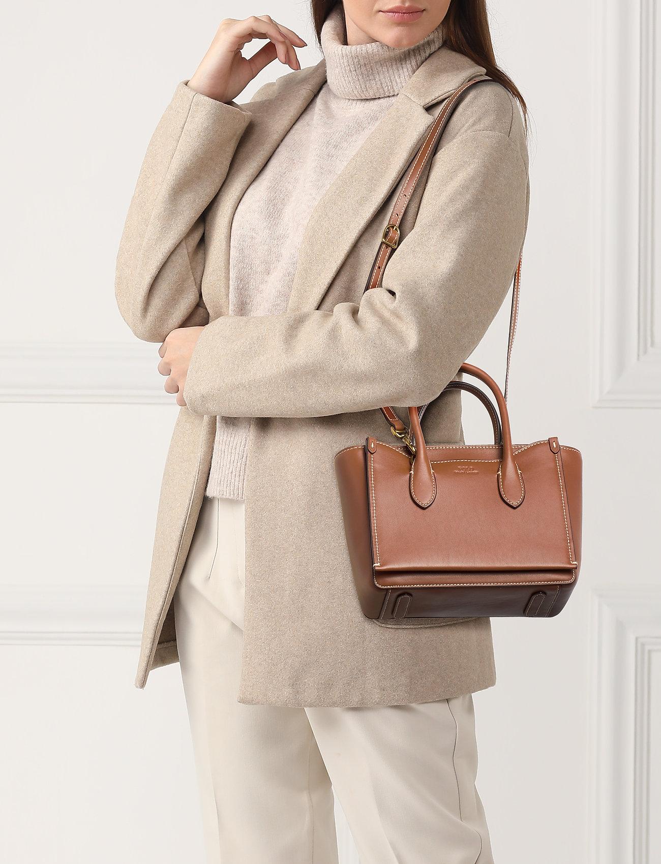 Polo Ralph Lauren Leather Mini Sloane Satchel - SADDLE