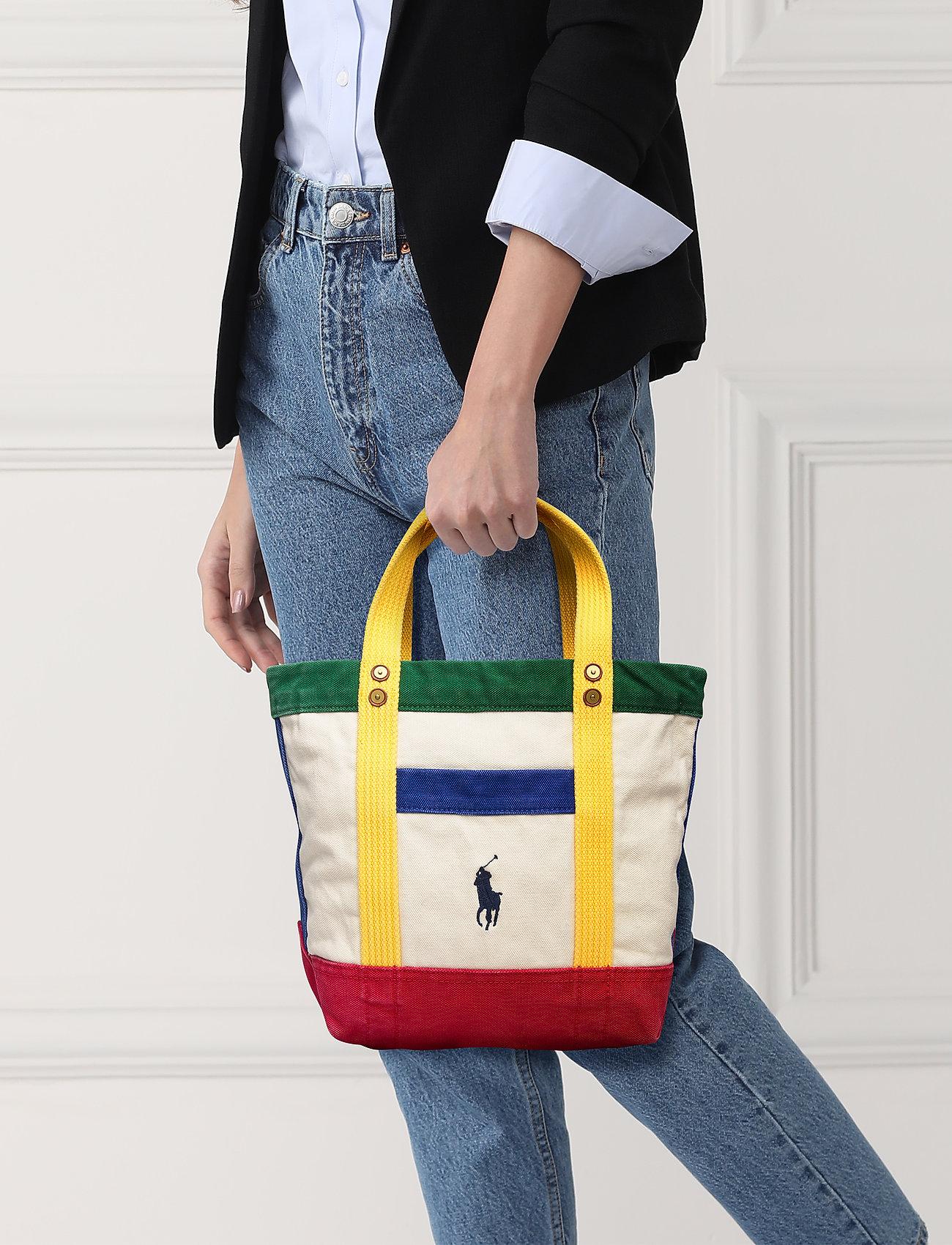 Polo Ralph Lauren - Color-Blocked Canvas Tote - shoppers - multi - 0