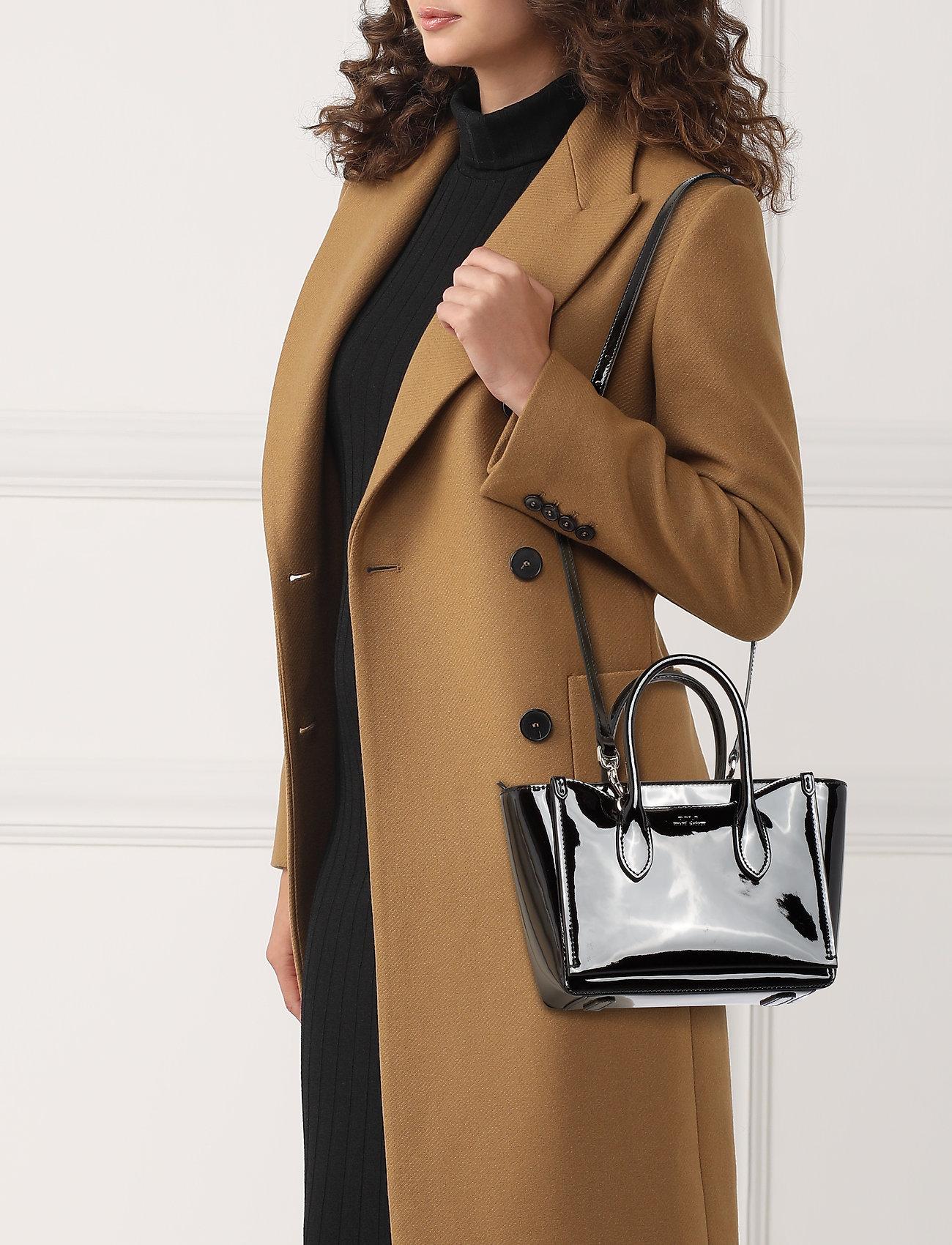 Polo Ralph Lauren Leather Mini Sloane Satchel - BLACK