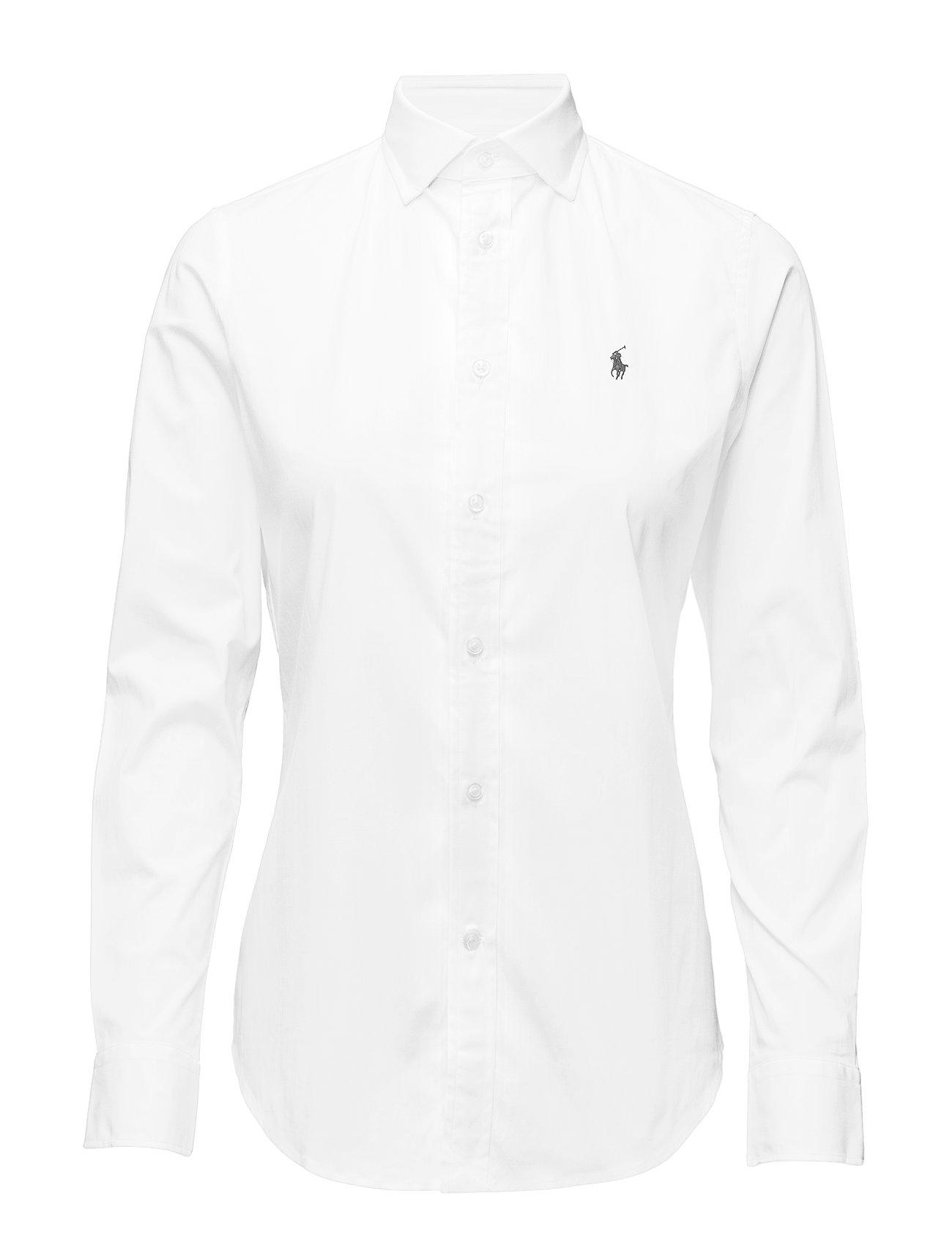 Polo Ralph Lauren Stretch Slim Poplin Shirt - WHITE