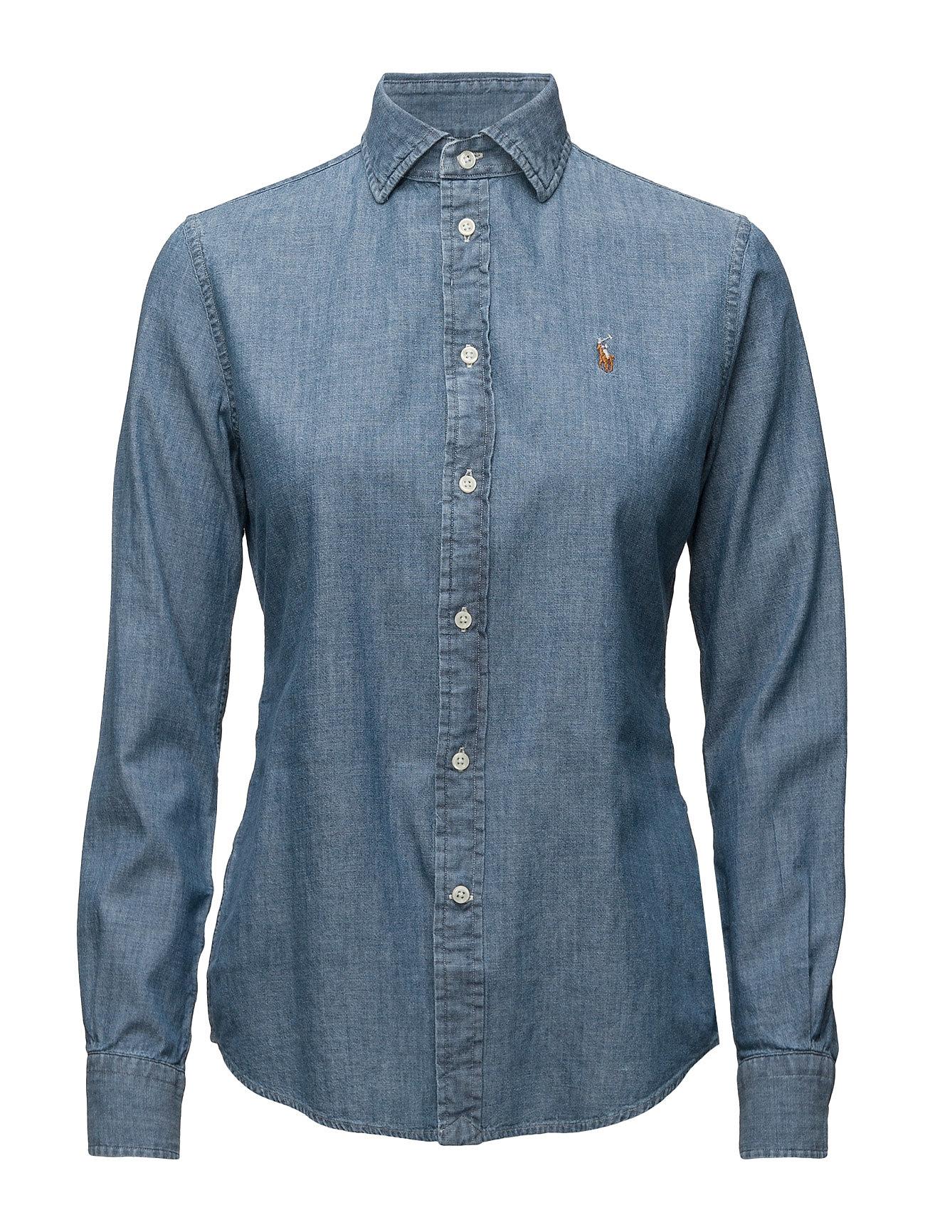 Polo Ralph Lauren Slim Fit Chambray Shirt - COBALT
