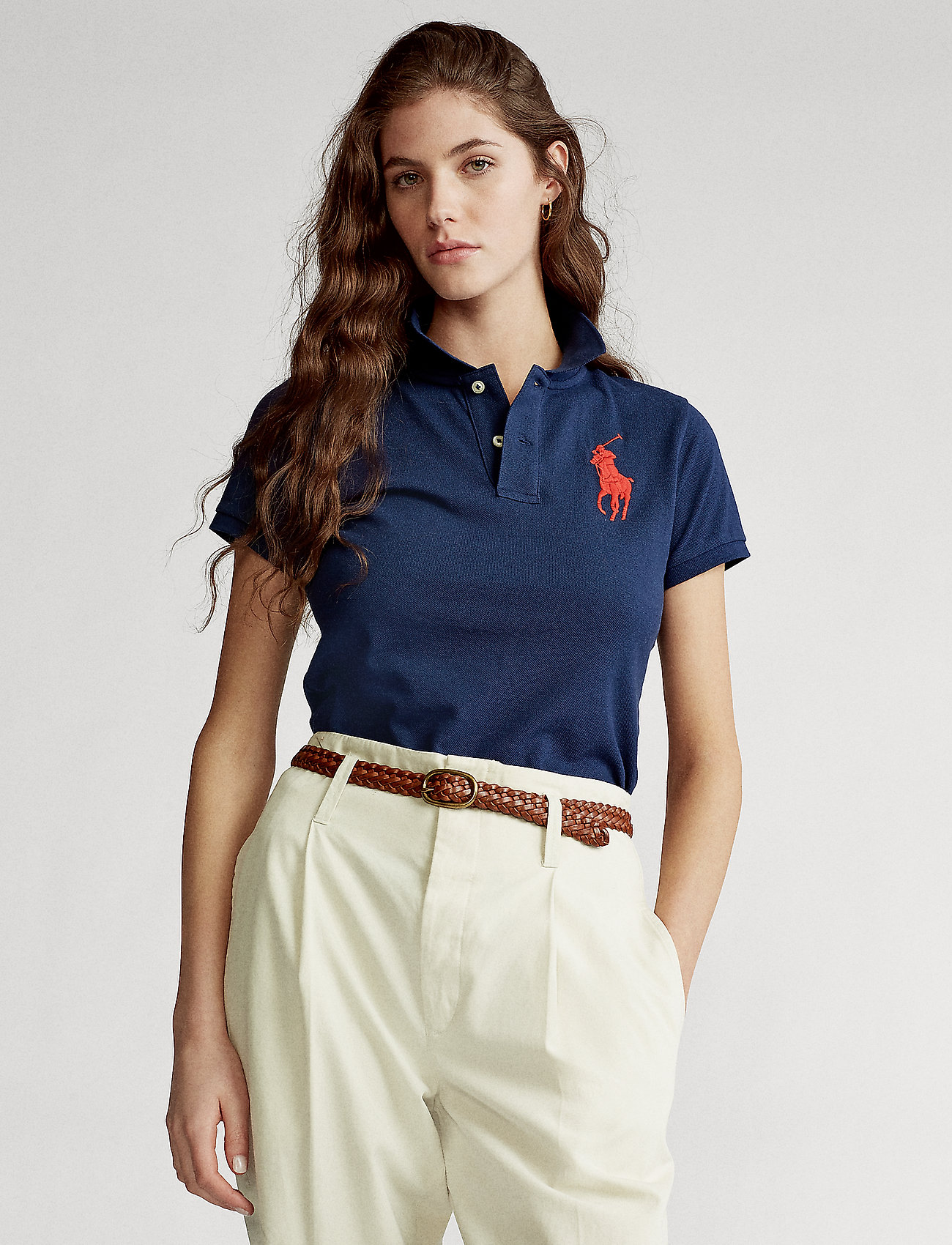 Polo Ralph Lauren - Skinny-Fit Big Pony Polo Shirt - pikeepaidat - newport navy - 0
