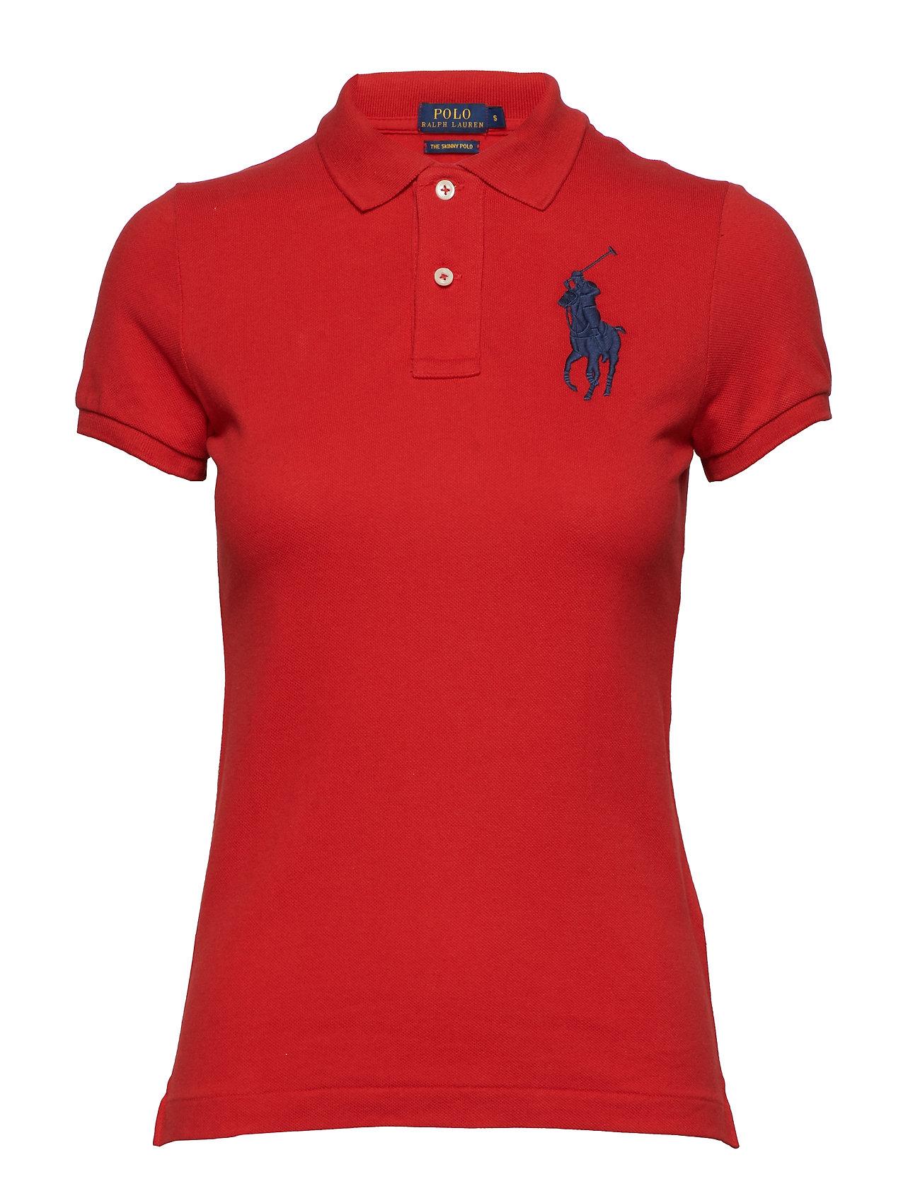 Polo Ralph Lauren Skinny-Fit Big Pony Polo Shirt - RL2000 RED
