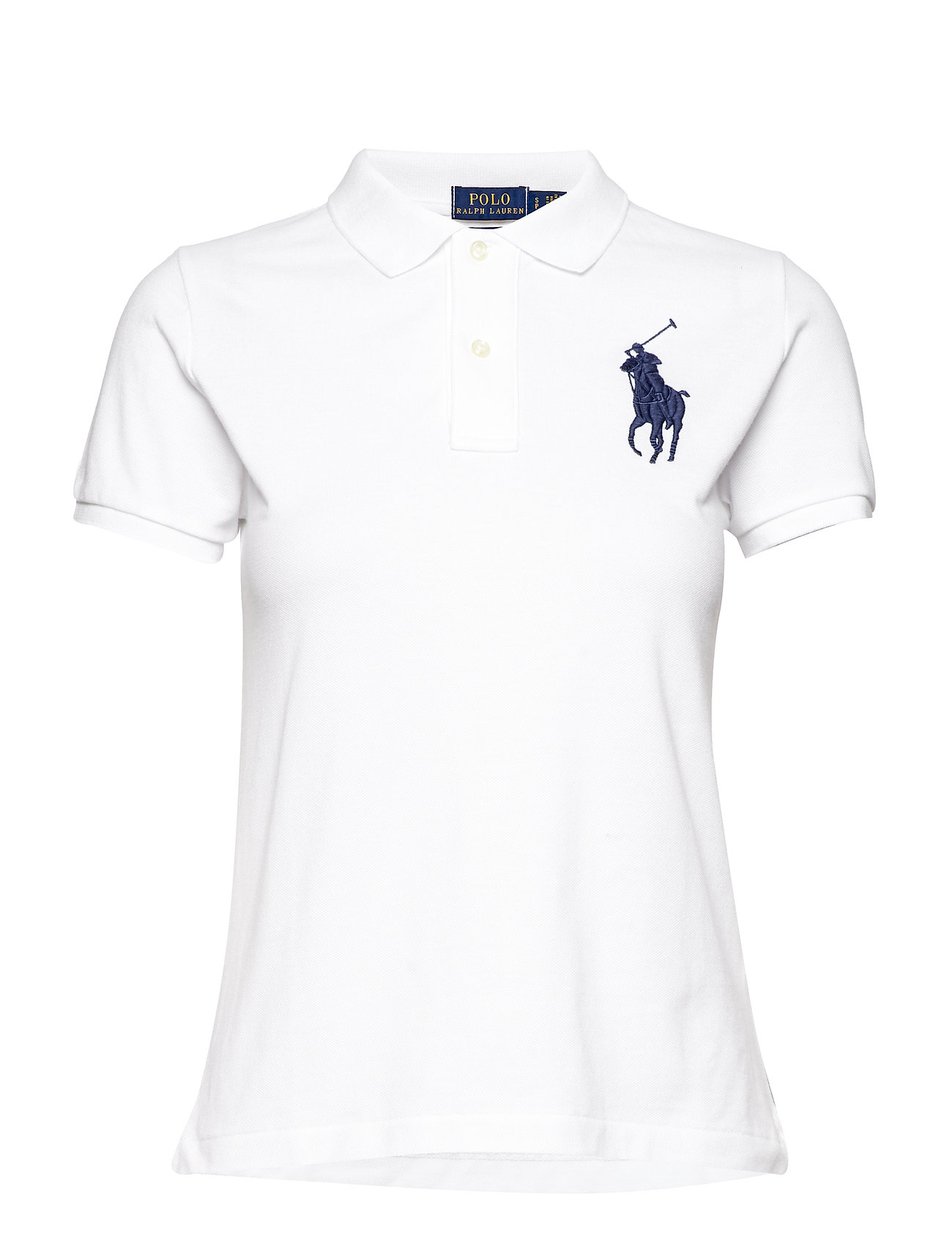 Polo Ralph Lauren Skinny-Fit Big Pony Polo Shirt - WHITE/NAVY PP