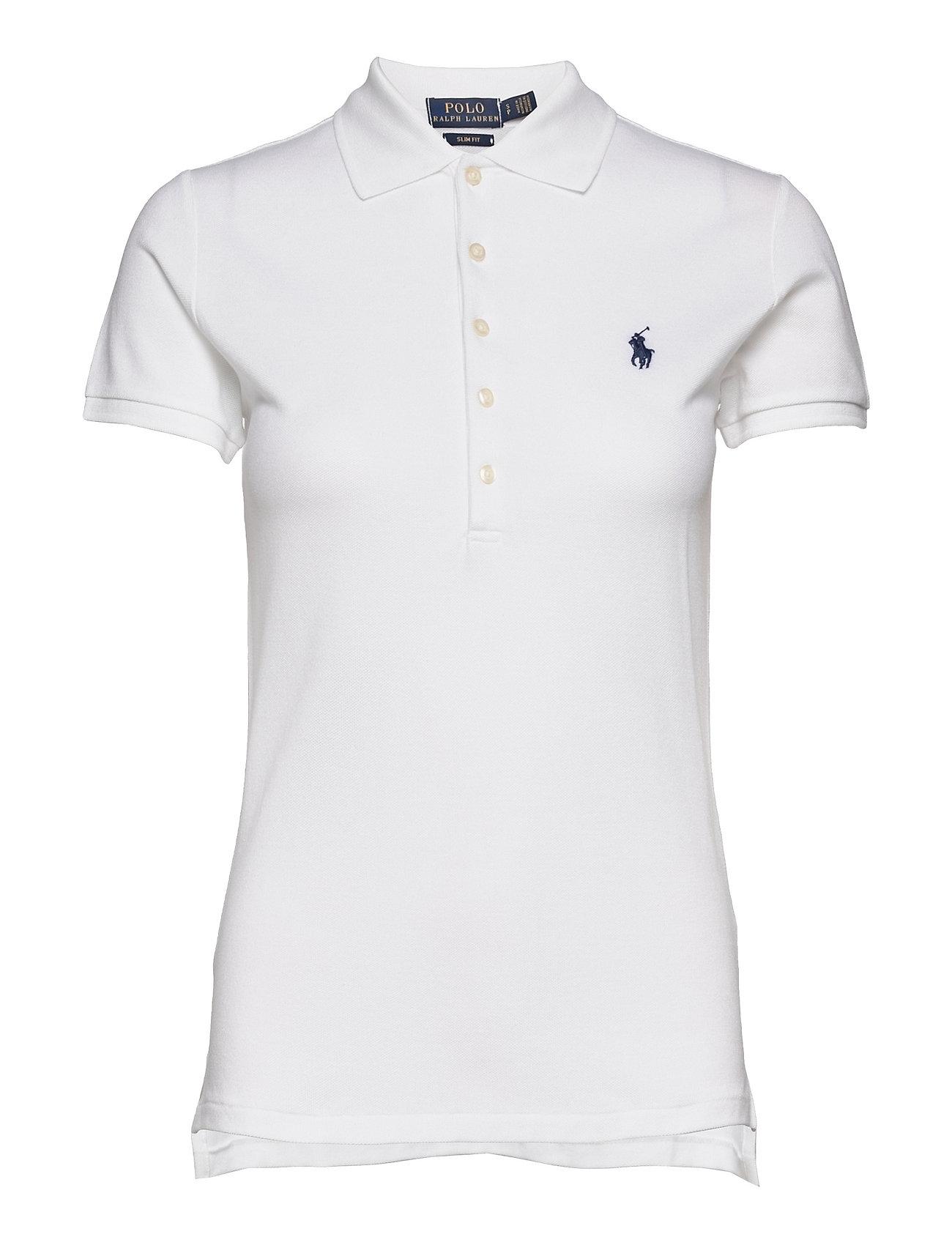 white ralph lauren polo shirt slim fit