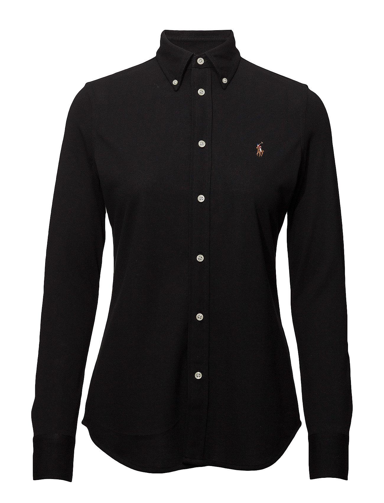 Polo Ralph Lauren Knit Cotton Oxford Shirt - POLO BLACK