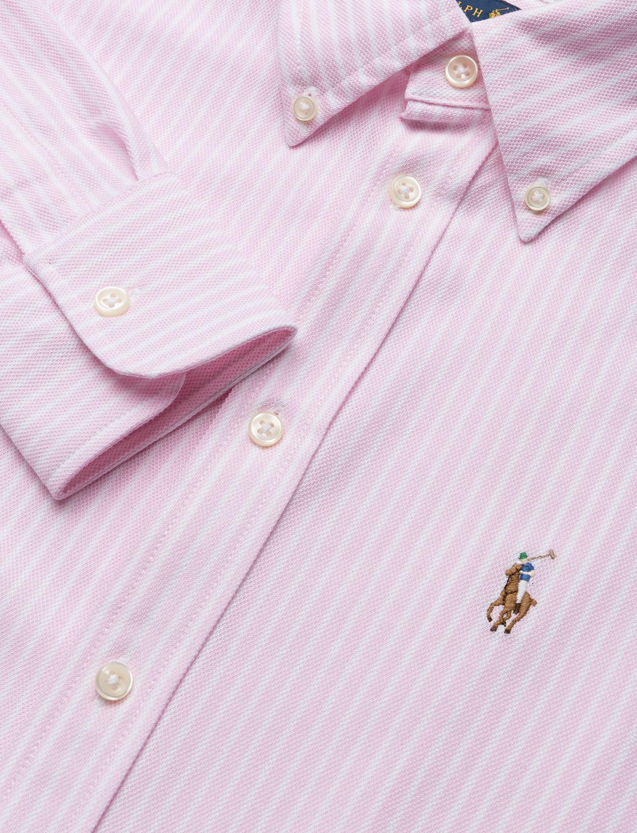 Striped Knit Oxford Shirt (Carmel Pink/white) (1099 kr) - Polo Ralph Lauren