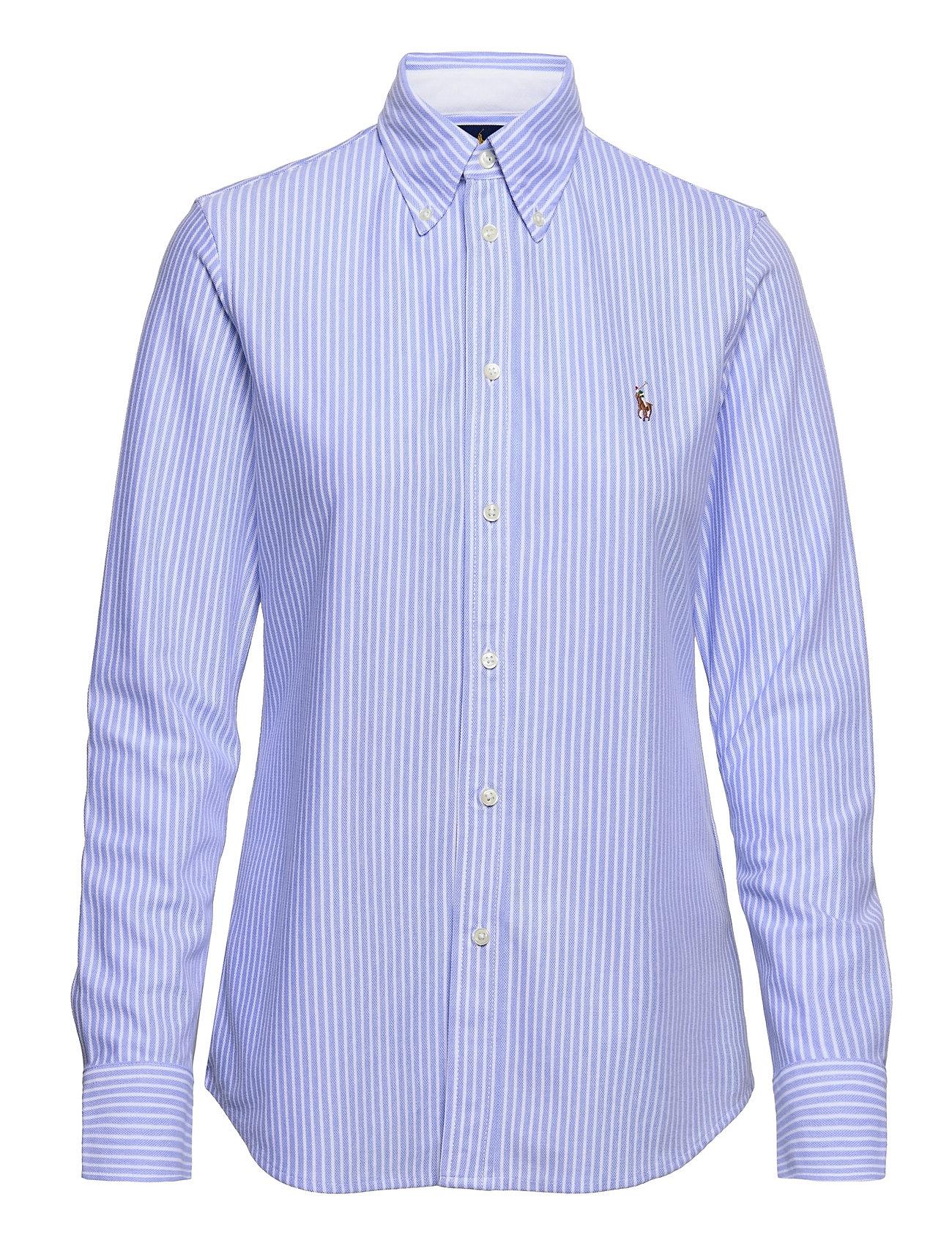 Polo Ralph Lauren Striped Knit Oxford Shirt - HARBOR ISLAND BLUE