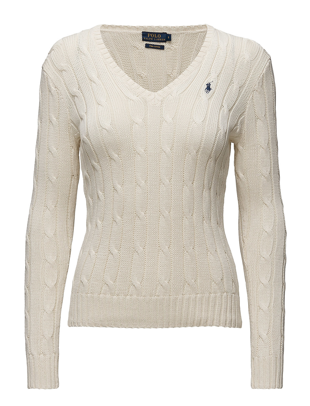 Polo Ralph Lauren Cable-knit V-neck Sweater - Stickat