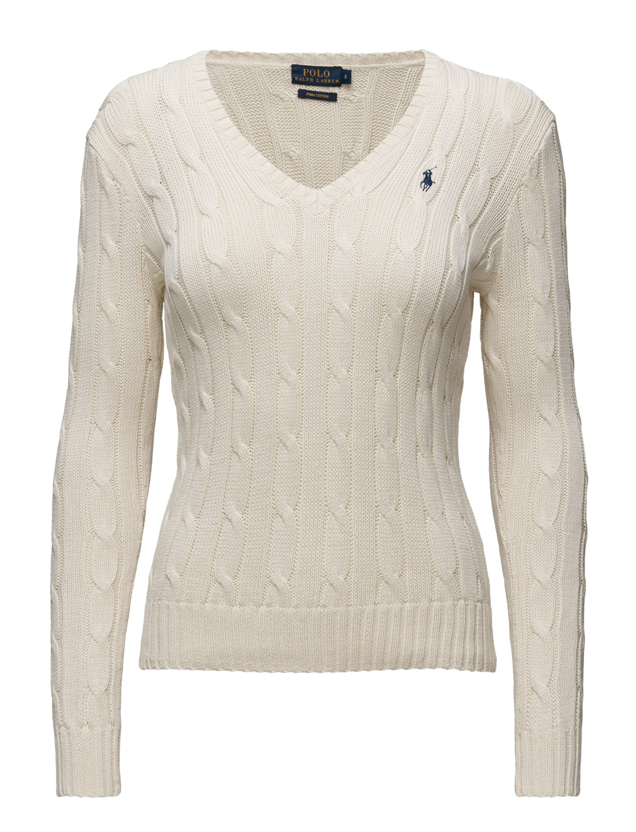 Polo Ralph Lauren Cotton V-Neck Cable Sweater