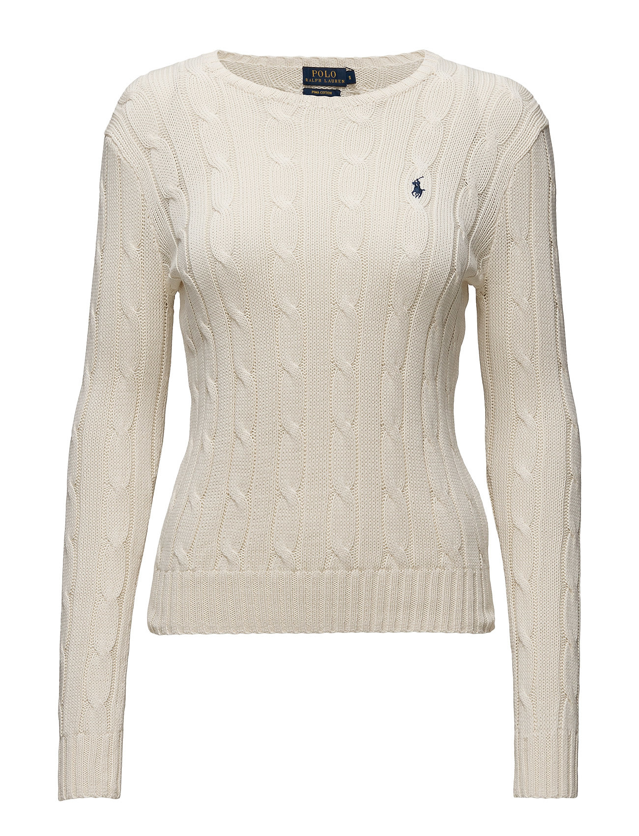 Polo Ralph Lauren Cable-Knit Cotton Sweater - CREAM