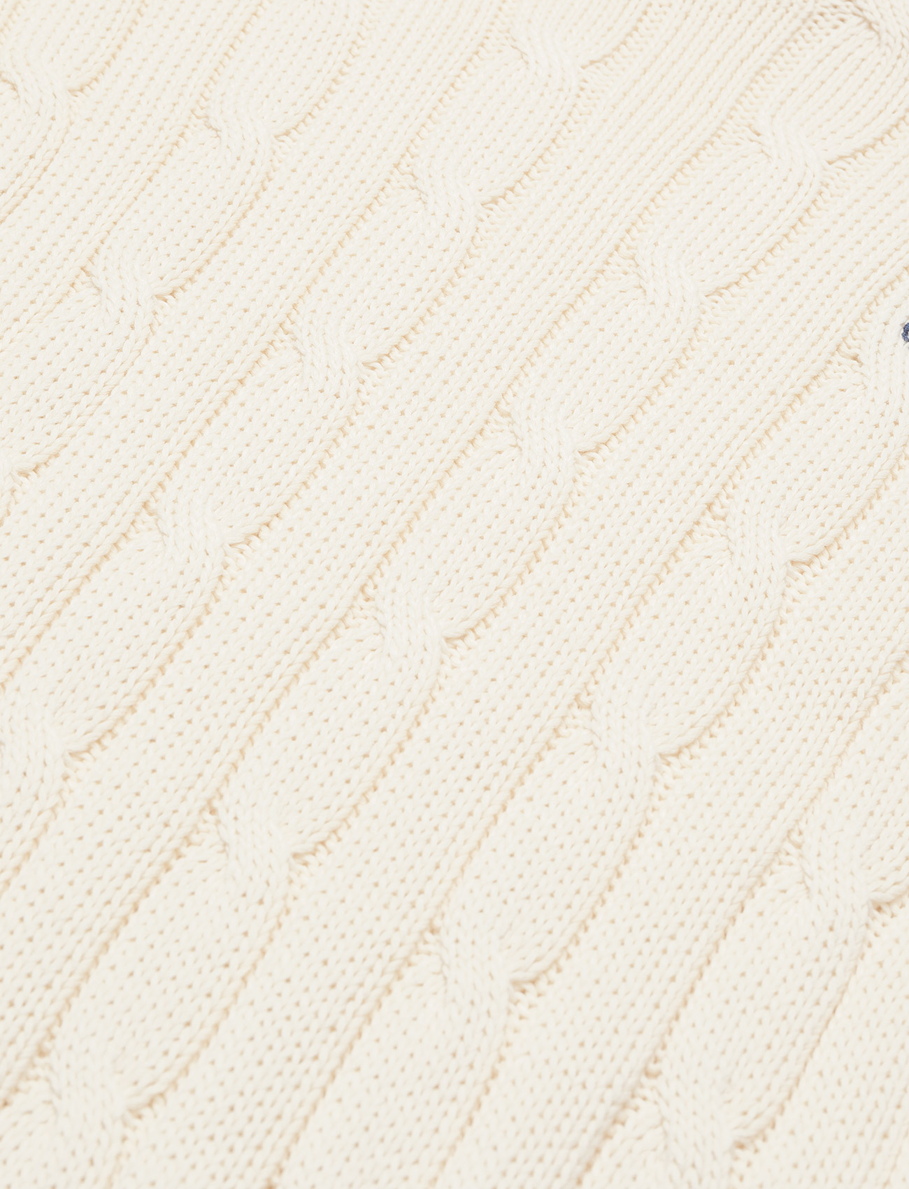 Polo Ralph Lauren - Cable-Knit Cotton Sweater - jumpers - cream - 1