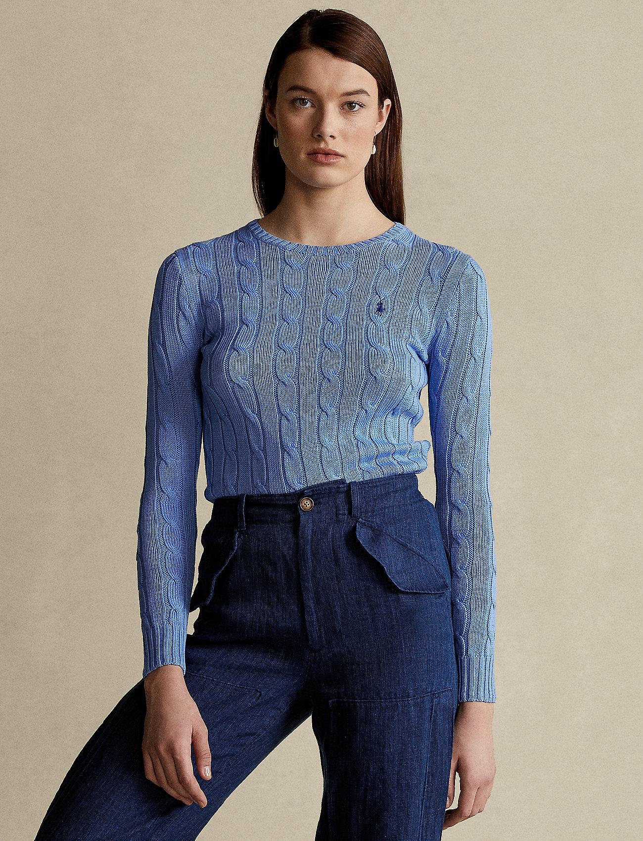 Polo Ralph Lauren - Cable-Knit Cotton Sweater - trøjer - harbor island blu - 0