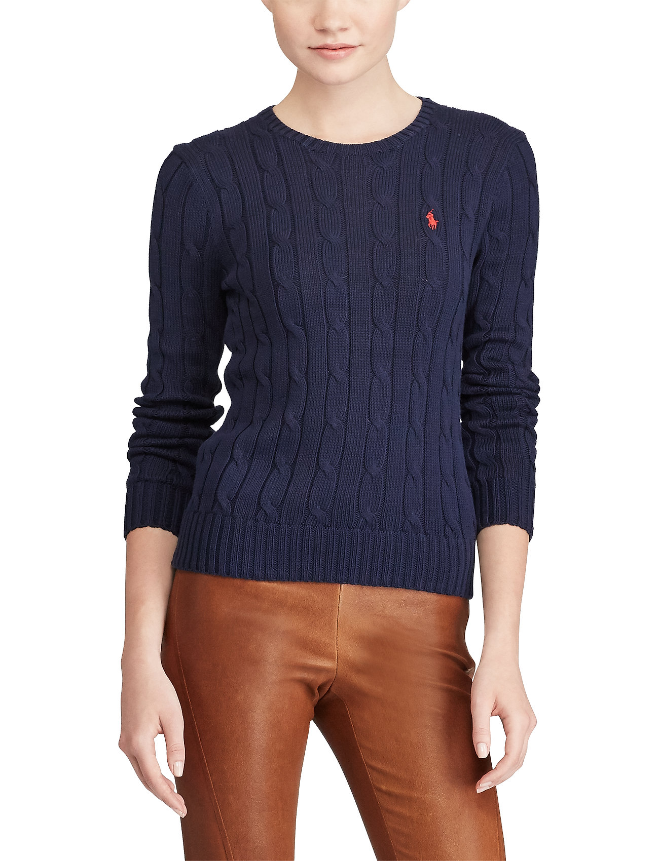 Polo Ralph Lauren - Cable-Knit Cotton Sweater - trøjer - hunter navy - 0
