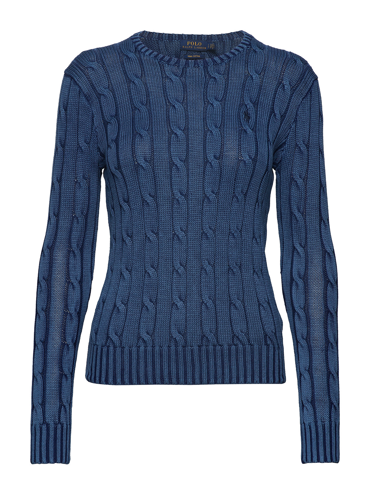 Polo Ralph Lauren Cable-Knit Cotton Sweater - INDIGO