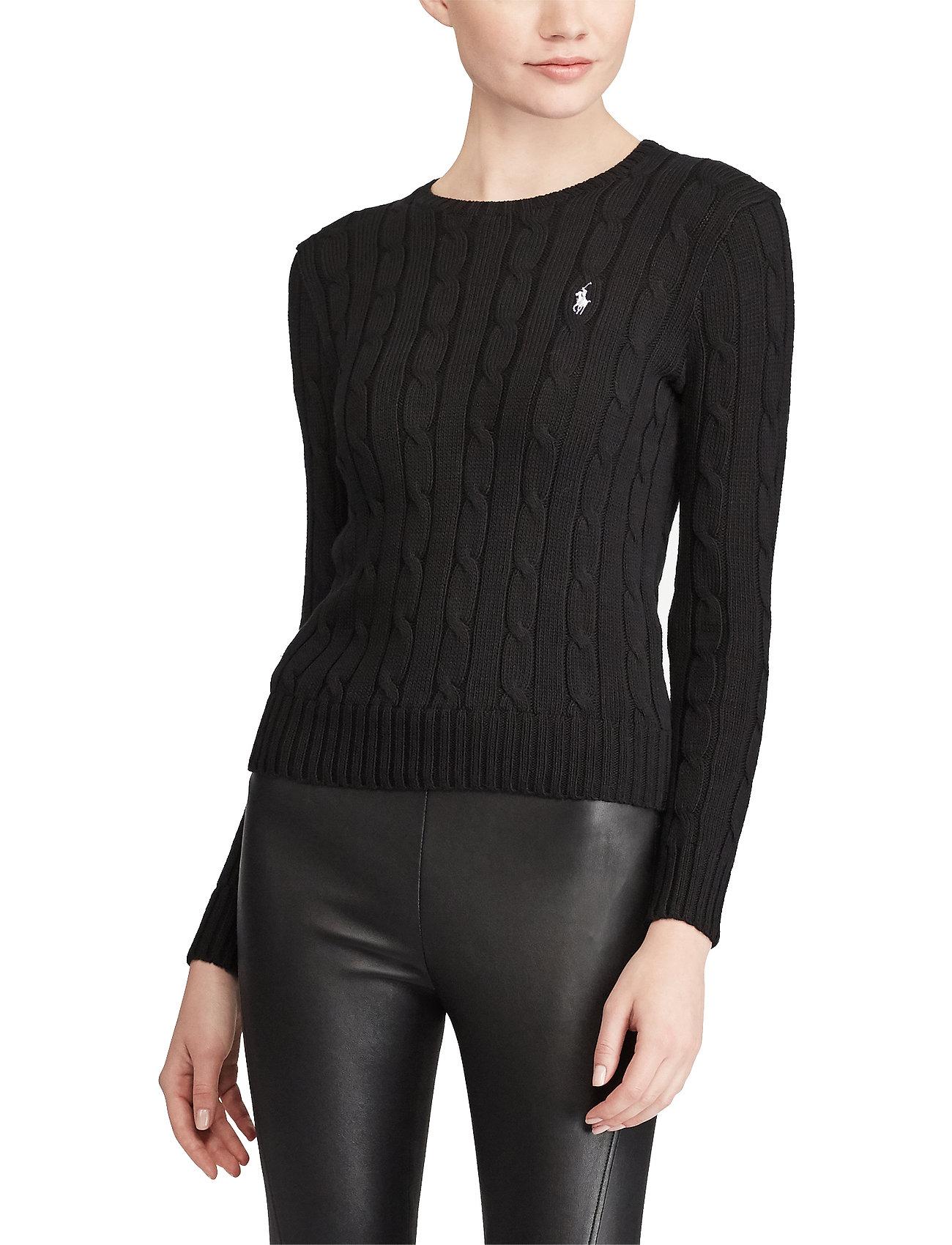 Polo Ralph Lauren - Cable-Knit Cotton Sweater - trøjer - polo black/white - 0