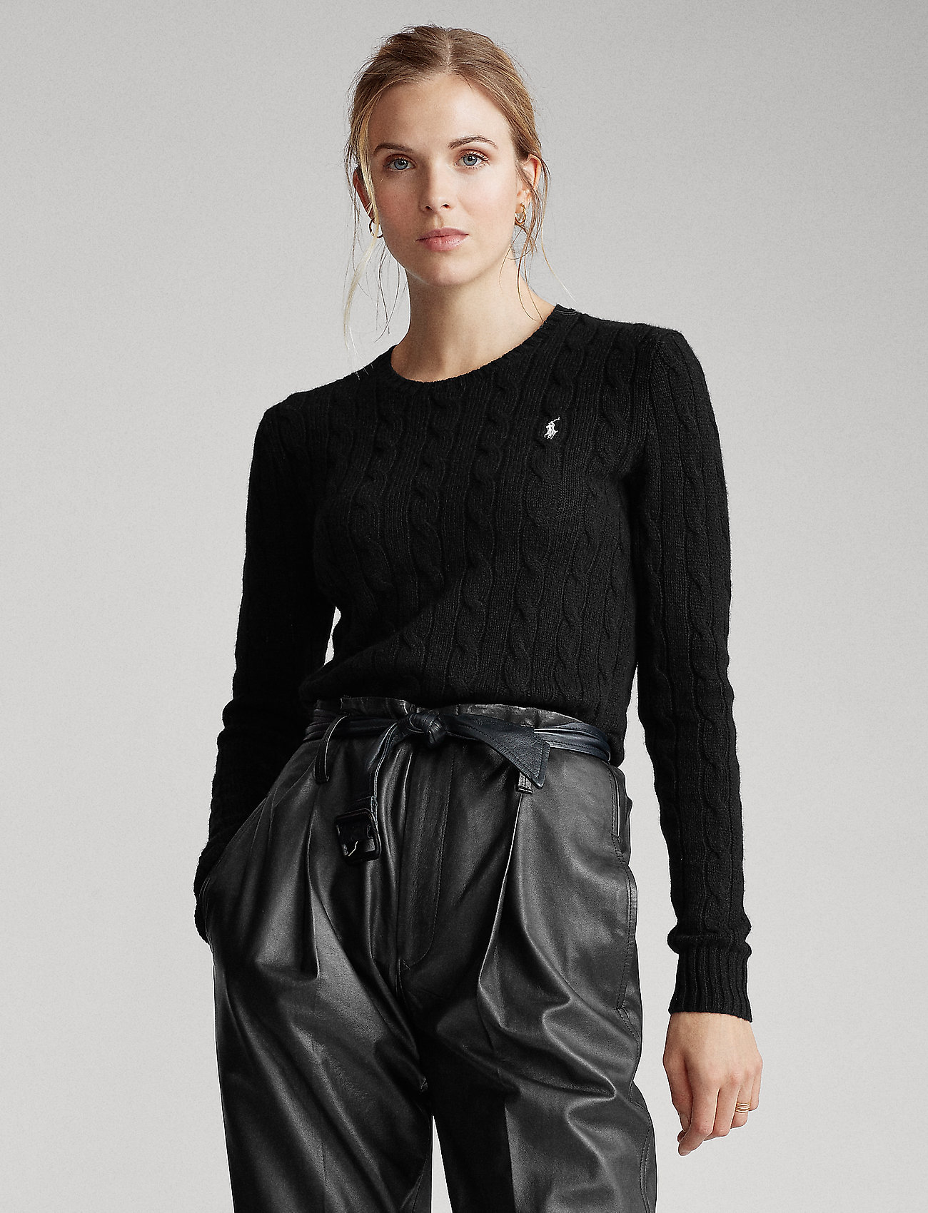Polo Ralph Lauren - Wool-Cashmere Crewneck Sweater - polo black - 0