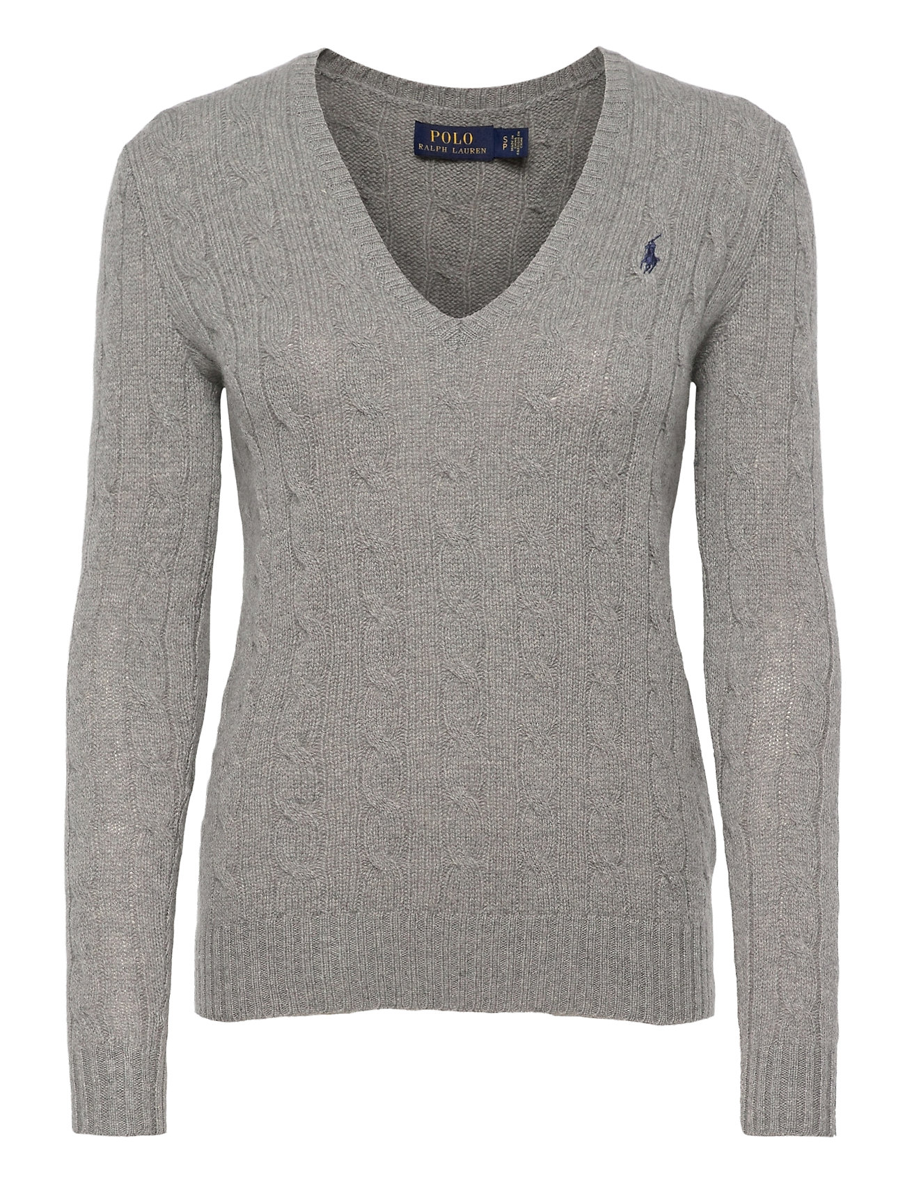 Polo Ralph Lauren Cable Wool-Cashmere Sweater - FAWN GREY HEATH
