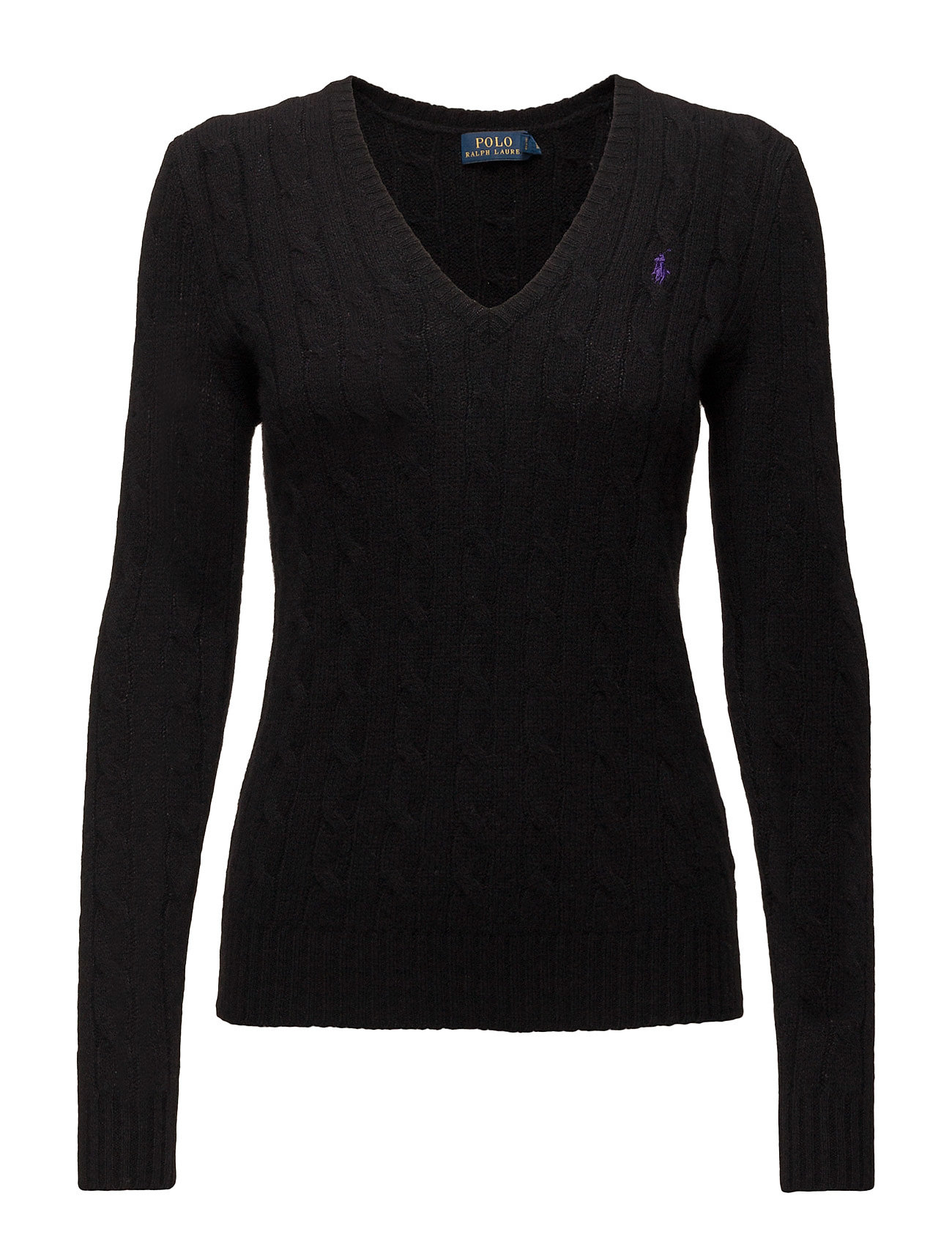 Wool Sweaterpolo Lauren BlackPolo Cable Ralph cashmere 54ARLj3