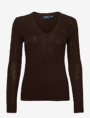 Polo Ralph Lauren - Cable Wool-Cashmere Sweater - jumpers - cedar heather - 0
