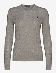 Polo Ralph Lauren - Cable Wool-Cashmere Sweater - tröjor - fawn grey heather - 1