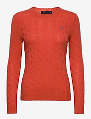 Polo Ralph Lauren - Cable Wool-Cashmere Sweater - jumpers - orangey red - 0