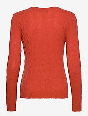 Polo Ralph Lauren - Cable Wool-Cashmere Sweater - jumpers - orangey red - 1