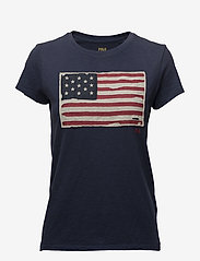 Polo Ralph Lauren - Flag Jersey Graphic T-Shirt - t-shirts - classic royal - 0
