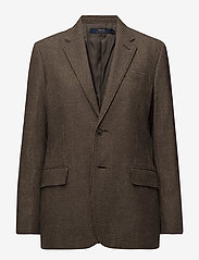 Polo Ralph Lauren - Houndstooth Tweed Blazer - suits & co-ords - brown/camel hound - 0