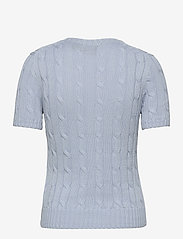 Polo Ralph Lauren - Cable Short-Sleeve Sweater - strikkede toppe - pale blue - 2