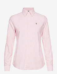 Polo Ralph Lauren - Slim Fit Cotton Oxford Shirt - long-sleeved shirts - bsr pink/white - 0