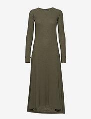 Polo Ralph Lauren - Waffle-Knit Henley Dress - maxi dresses - defender green - 0