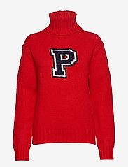 Polo Ralph Lauren - Wool-Blend Turtleneck Sweater - poolopaidat - fall red - 1