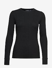 Polo Ralph Lauren - Elbow-Patch Rib-Knit Top - neulepuserot - polo black - 0