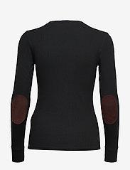 Polo Ralph Lauren - Elbow-Patch Rib-Knit Top - neulepuserot - polo black - 1