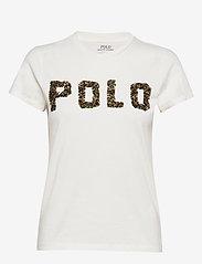 Polo Ralph Lauren - Beaded-Logo Cotton Tee - logo t-shirts - nevis - 0