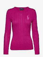 Polo Ralph Lauren - Cable-Knit Cotton Sweater - jumpers - accent pink - 0