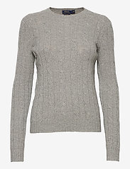 Polo Ralph Lauren - Cable-Knit Cashmere Sweater - jumpers - battalion grey he - 1