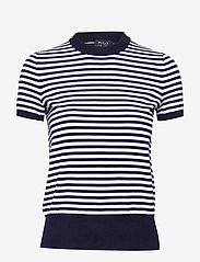 Polo Ralph Lauren - Striped Short-Sleeve Sweater - striped t-shirts - bright navy/white - 0