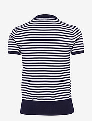 Polo Ralph Lauren - Striped Short-Sleeve Sweater - striped t-shirts - bright navy/white - 1