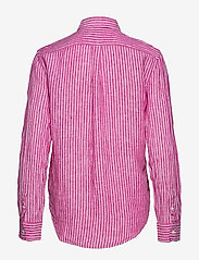 Polo Ralph Lauren - Relaxed Fit Linen Shirt - long-sleeved shirts - 542a pink/white - 1