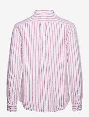 Polo Ralph Lauren - Relaxed Fit Linen Shirt - langærmede skjorter - 911 white/pink - 2