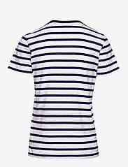 Polo Ralph Lauren - Striped Cotton Jersey Tee - logo t-shirts - white/cruise navy - 1