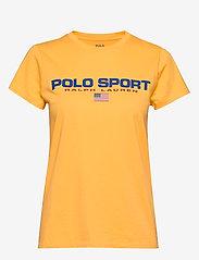 Polo Ralph Lauren - 26/1'S JERSEY-SSL-KNT - logo t-shirts - chrome yellow - 0