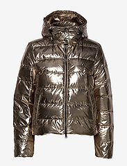 Polo Ralph Lauren - Metallic Down Jacket - padded jackets - olive pewter - 1