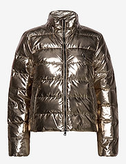 Polo Ralph Lauren - Metallic Down Jacket - padded jackets - olive pewter - 2