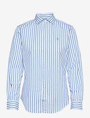 Polo Ralph Lauren - Striped Cotton Shirt - langærmede skjorter - 921a lt blue/whit - 1