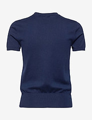 Polo Ralph Lauren - Cotton Short-Sleeve Sweater - strikkede toppe - bright navy - 2