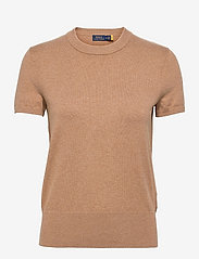 Cotton Short-Sleeve Sweater - COLLECTION CAMEL